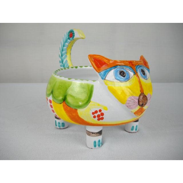 Mid-Century DeSimone Ceramic Cat Bowl - Image 5 of 8