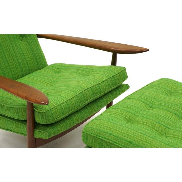 Rare George Nakashima for Widdicomb High Back Lounge Chair and Ottoman - Image 8 of 11