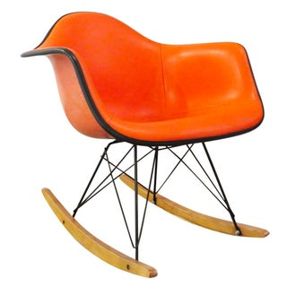 Vintage Orange Eames Shell Rocker - All Original