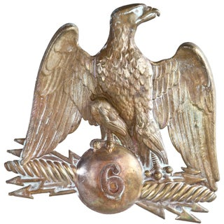 Vintage French Gilded Brass Eagle Hat Pin