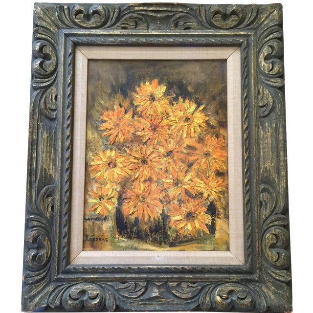 Vintage Framed Still Life Oil Painting - Image 1 of 9