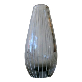 Vintage Murano Striped Bud Vase