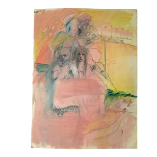 1960s Robert Nichols Original Painting on Paper