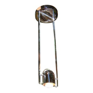 Jean Mermoz Ocean Liner Lucite and Chrome Ceiling Fixtures