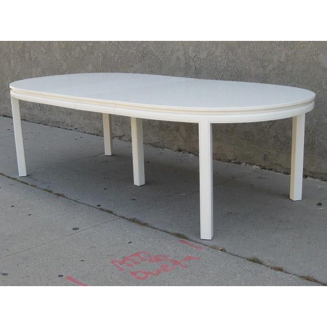 Image of Mid-Century White Lacquer Dining Table