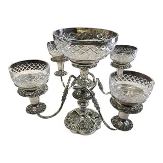 Antique Silverplate Epergne Candlelabra