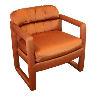 Milo Baughman Drexel Heritage Barrel Lounge Chair