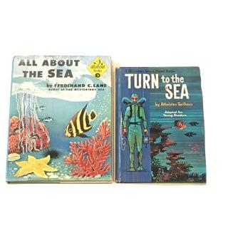 Mid-Century Sea Educational Books - A Pair