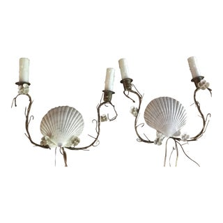 Shell Sconces - Pair