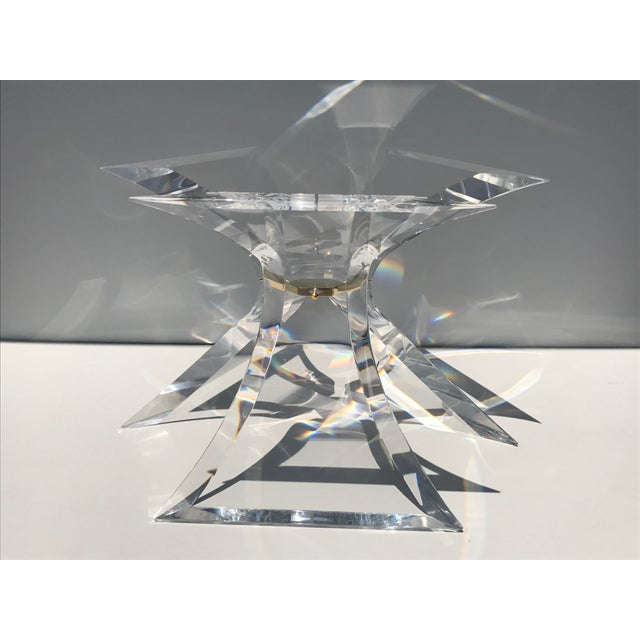 Image of Lion in Frost Lucite Tripod Base Dining Table
