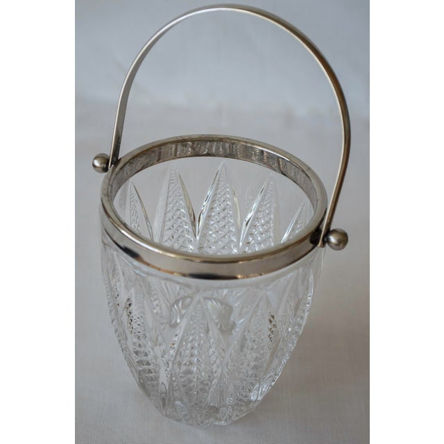 Vintage Crystal and Silver Platted Ice Bucket - Image 4 of 6