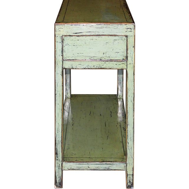 Image of Green 2-Drawer Console Table