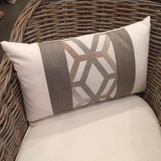 Elaine Smith Outdoor Kidney Pillows - A Pair - Image 4 of 5