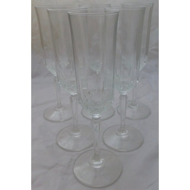 Image of Vintage French Champagne Flutes - Set of 6