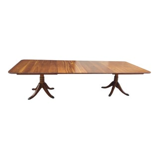 Stickley Pedestal Cherry Dining Room Table