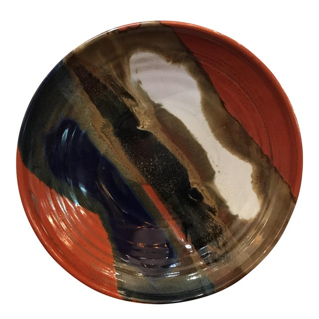 Earth Tone Studio Pottery Plate - Image 1 of 6