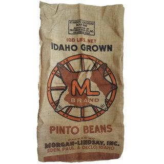 Vintage Bean Bag Burlap Sack by Friedman Bag Company