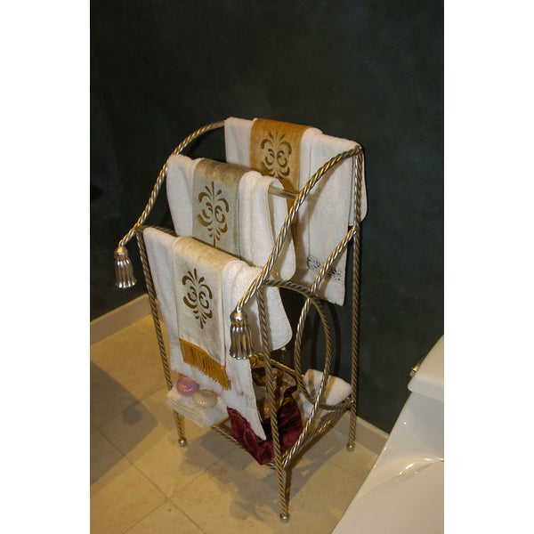 Metal Towel Rack With Tassels - Image 3 of 4