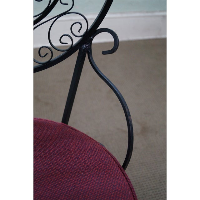 5-Piece Scrolled Iron Bistro Dining Set - Image 7 of 10