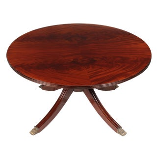 1950s Phyfe Style Mahogany Pedestal Coffee Table