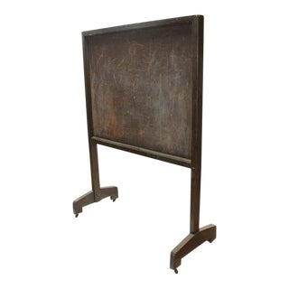 Antique American School Floor Double Sided Chalkboard/Message Board