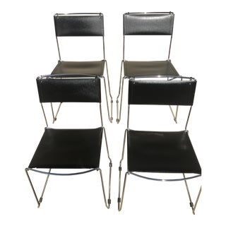 Matteo Grassi Leather Chairs - Set of 4