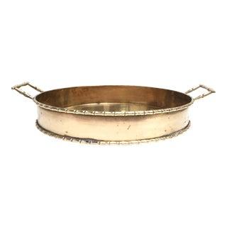 Large Vintage Brass Oval Tray