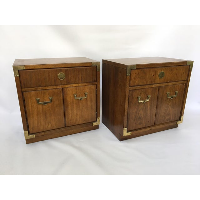 Thomasville Huntley Campaign Nightstand - A Pair - Image 2 of 4