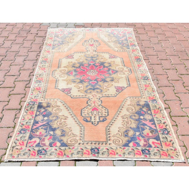 Muted Handwoven Nomadic Vintage Anatolian Oriental Rug - 4′4″ × 7′3″ - Image 2 of 6