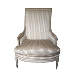 Taupe Louis XVI Style Bergère