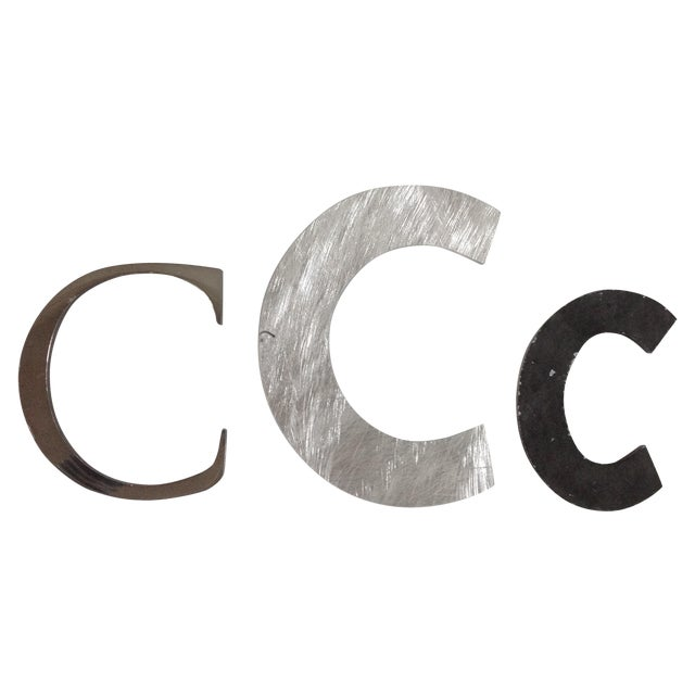 Collection of Metal Vintage Letter C - Set of 3 - Image 1 of 4