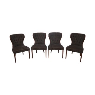 Kravet Custom Tufted Back Dining Chairs - Set of 4