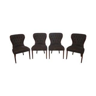 Kravet Custom Tufted Back Dining Chairs - Set of 4