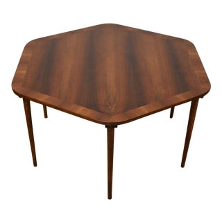 Mid-Century Walnut Hexagon Coffee Table