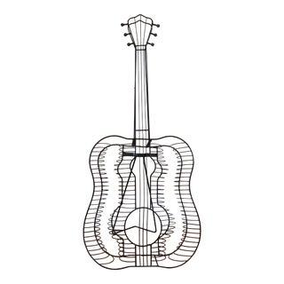 Vintage Metal Guitar Sculpture