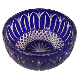 Cobalt Crystal Bowl