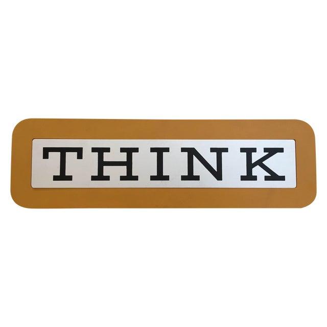 """Image of Vintage IBM """"Think"""" Sign"""