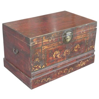Tibetan Painted Floral Trunk
