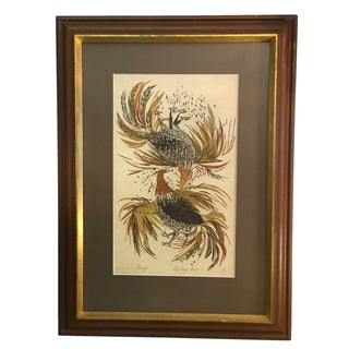 Signed & Numbered Richard E. Morgan Block Print