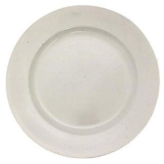 French White Round Platter