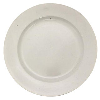 French White Round Platter