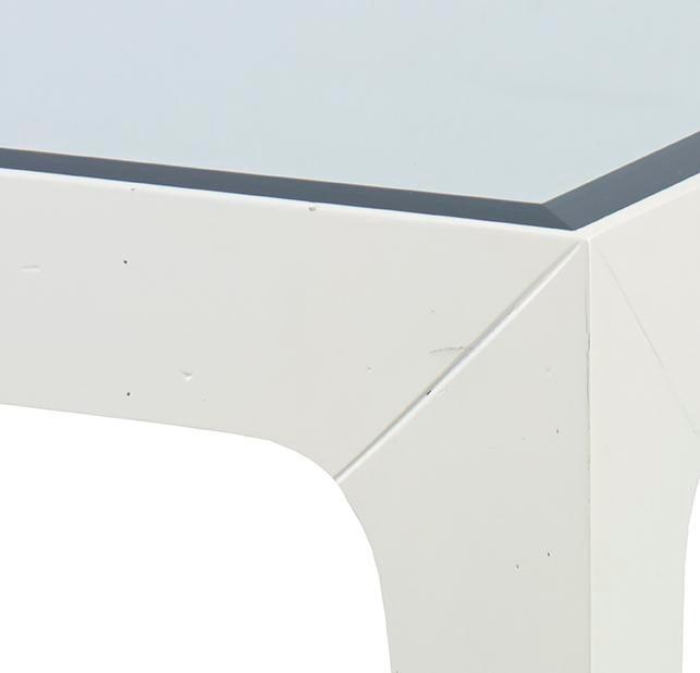 kravet slim square side table | chairish