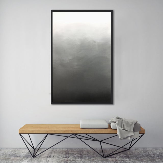 """Image of """"Abstract Gray Ombré"""" Framed Giclée Print"""