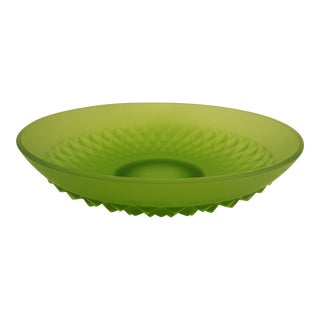 Indiana Glass Lime Mist Diamond Point Bowl
