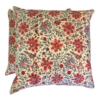 Ralph Lauren Floral Batik Pillows - A Pair
