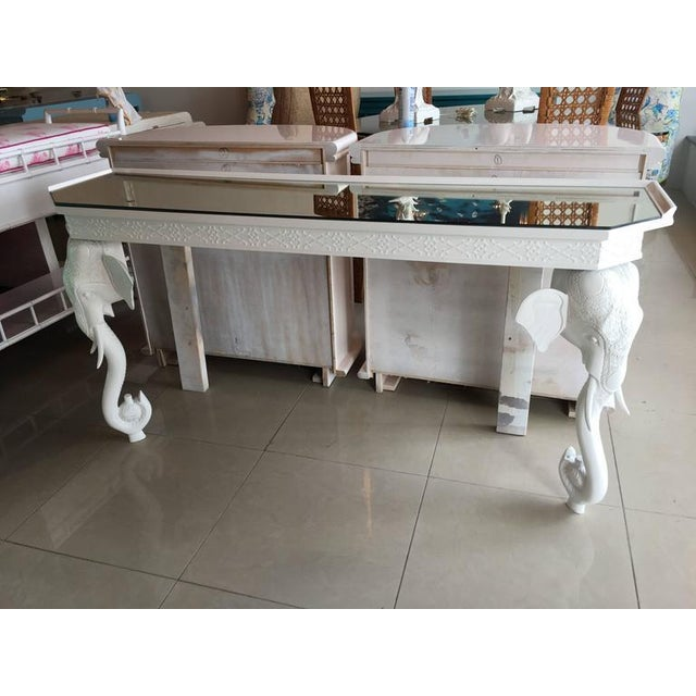 Gampel-Stoll White Elephant Console Table - Image 9 of 11
