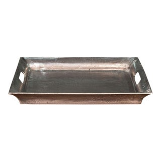 Sarreid LTD Black Antiqued Silver Aluminum Tray