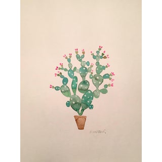 "Contemporary ""Summer Cactus"" Original Watercolor"