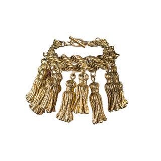 Gold Tassel Bracelet by Chantal Thomass