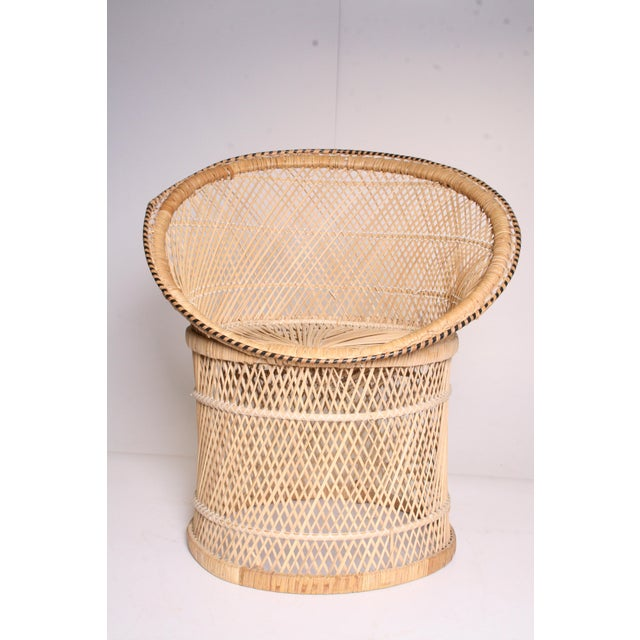 Vintage Boho Chic Wicker Pod Chair - Image 4 of 11